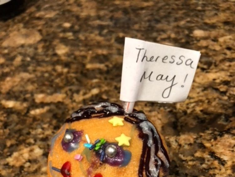"""Undated handout photo issued by 10 Downing Street of a cupcake featuring Theresa May's face that Gabby Balaes, 9, baked for the Prime Minister. Mrs May told the BBC: """"There was a message. It said that her dad had said I'd had a tough week and she wanted to make me smile."""" PRESS ASSOCIATION Photo. Issue date: Friday November 23, 2018. See PA story POLITICS Brexit. Photo credit should read: 10 Downing Street/PA Wire NOTE TO EDITORS: This handout photo may only be used in for editorial reporting"""