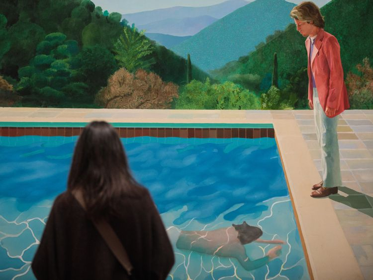 Hockney painting fetches record €70m at auction