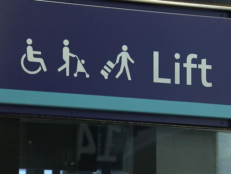 There are no full facilities for people with disabilities in over 1000 stations