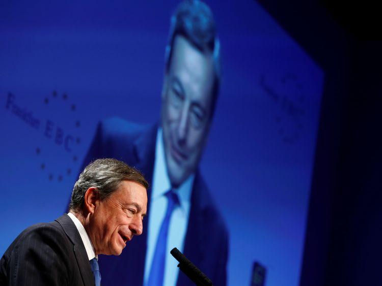 ECB president Mario Draghi is still preparing to withdraw a vast stimulus package despite weak growth