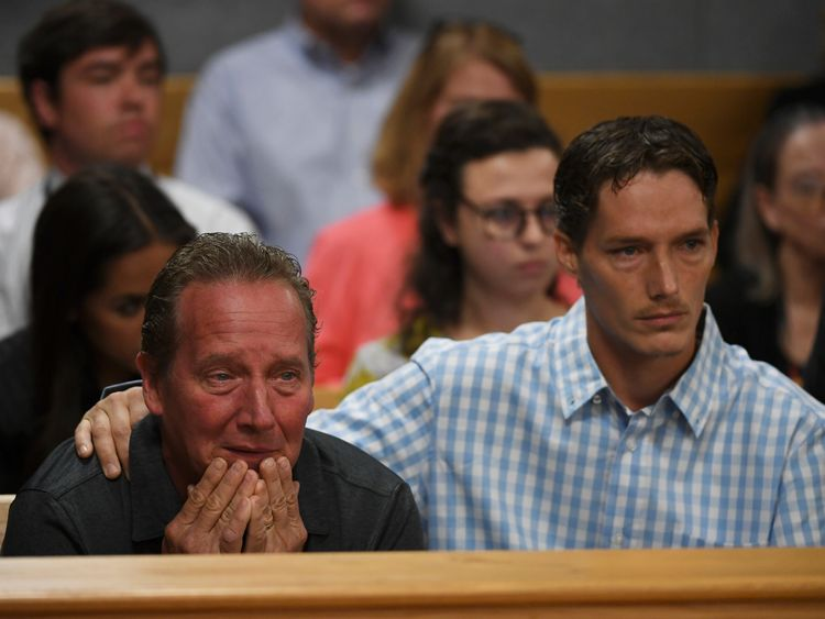 Shanann Watts' father, Frank Rzucek (left), and her brother, Frankie Rzucek