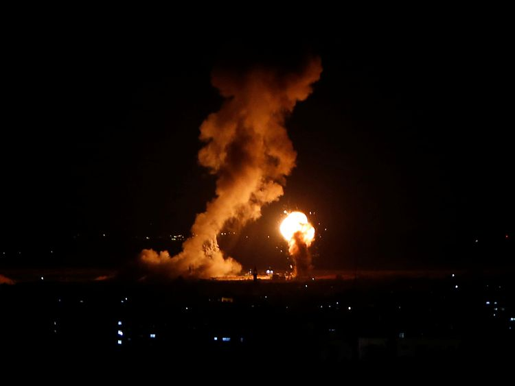 Two dead in Gaza strikes after rockets hit Israel