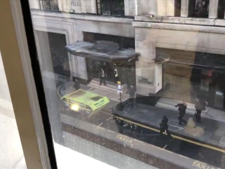 Armed police. Pic London Live
