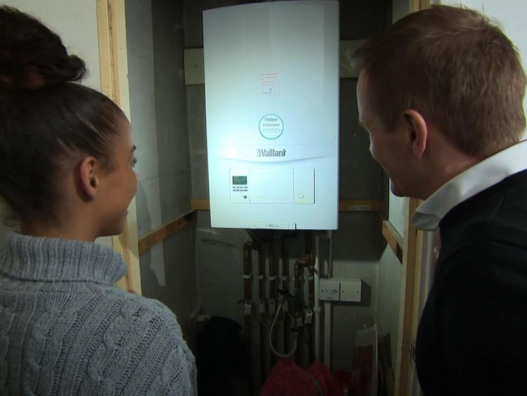 Chloe Edwards-Simpson's boiler could be converted to use hydrogen