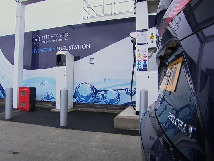 The network of hydrogen fueling stations is slowly growing