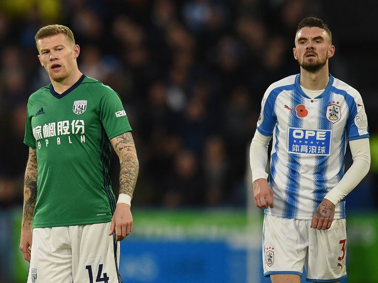 James McClean (L) refusesto wear a jersey emblazoned with the poppy