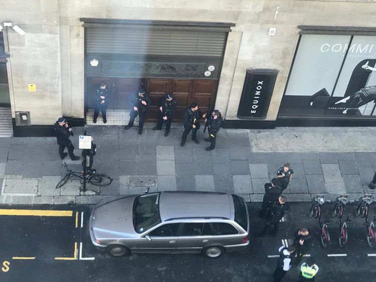 Two stabbed at Sony Music's London headquarters, man arrested
