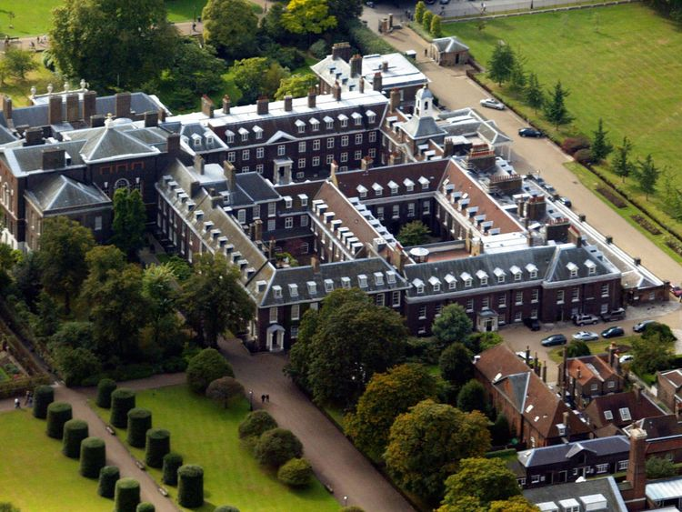 Kensington Palace where the couple currently reside