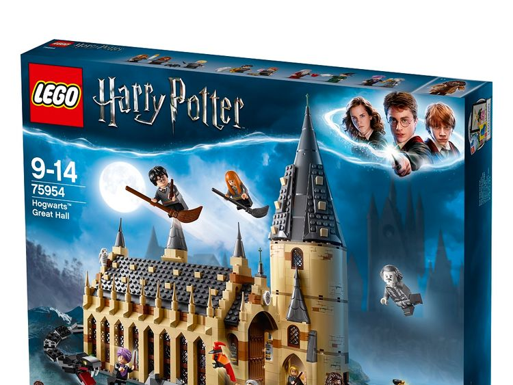 The Harry Potter Great Hall set is the most expensive at £89.99