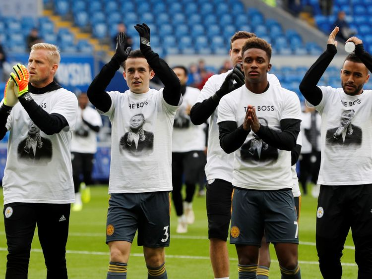 Players ahead of the game wore t-shirts with the owner's picture
