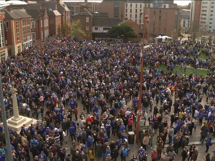 Fans expected to take part in organised walk to King Power stadium