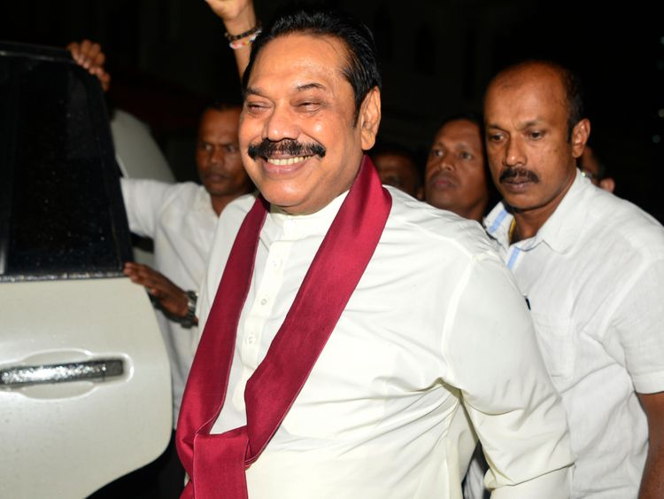 Sri Lanka's ousted PM accuses rival Rajapaksa of bribery