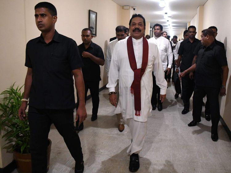 Sri Lanka's former president Mahinda Rajapakse