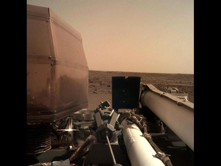 InSight takes a 'selfie' on the surface of Mars using a camera on its robotic arm