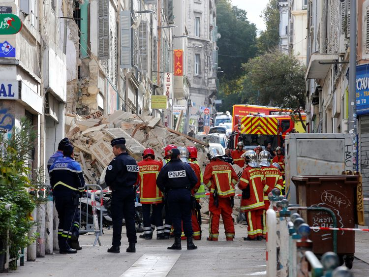 10 feared buried in Marseille building collapse
