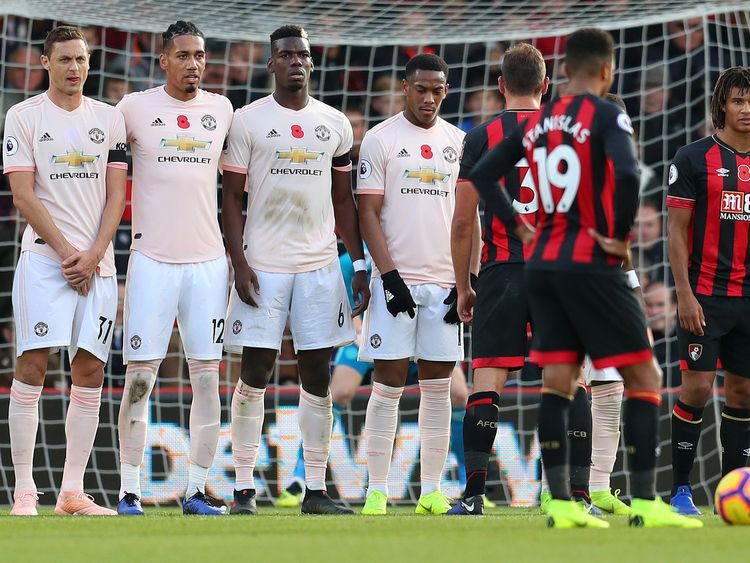 Matic was the only player without a poppy on his shirt