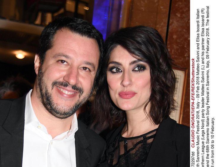 Matteo Salvini and Elisa Isoardi