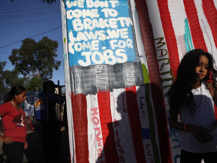 Around 5,00 migrants are already waiting in Tijuana