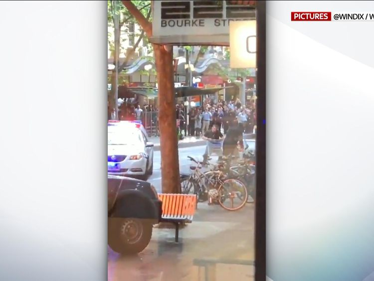 Michael Rogers was named Trolley Man after he used a trolley to try to stop a terrorist in Melbourne. Pic Windix  Wechat