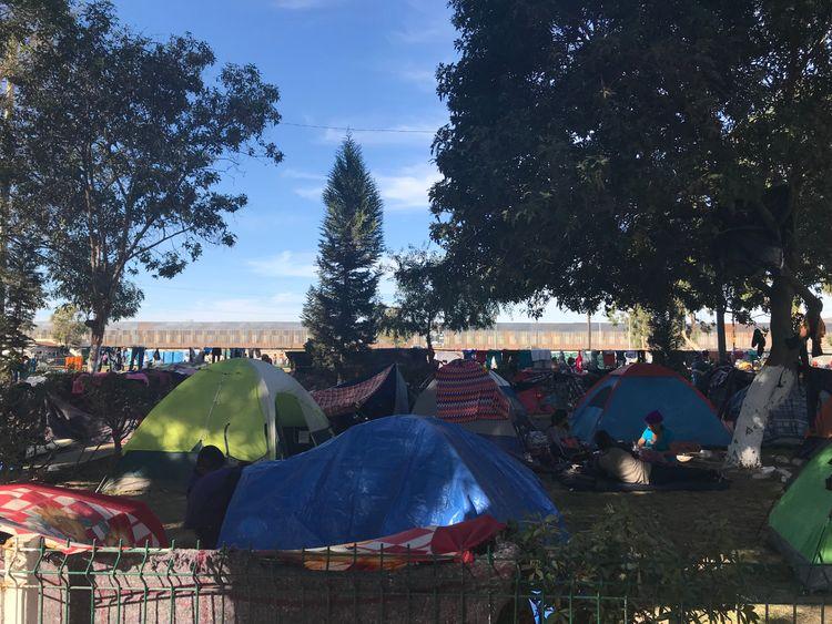 tijuana migrant camp - sky news pic