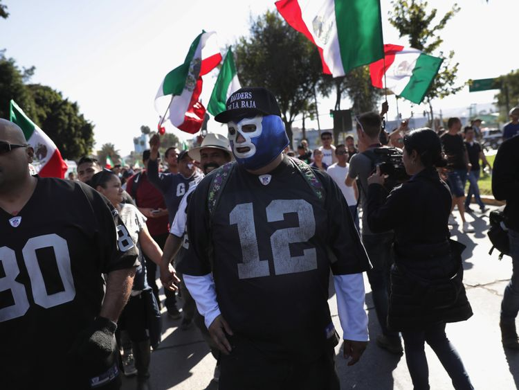 There have been protests against the presence of the migrants in Tijuana