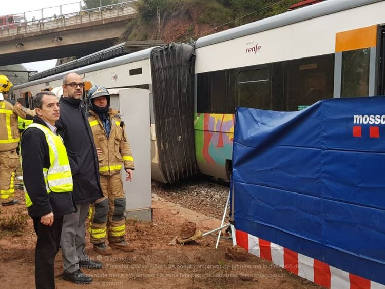 Barcelona train derailment: At least one dead in horror crash