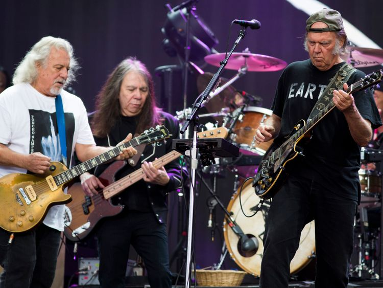 Neil Young and Crazy Horse at Hyde Park's British Summer Time festival in 2014
