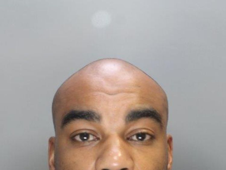 Nyron Hughes, 35 from Chingford, London, was sentenced to four years in prison. Pic: City of London police