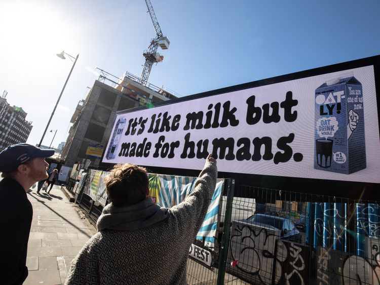 An advertising campaign has led to a huge rise in sales. Pic: Oatly