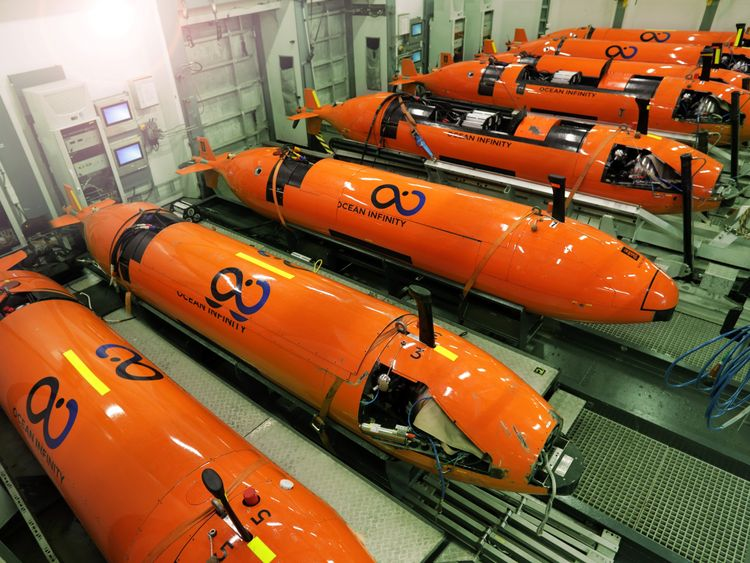 Automated Underwater Vehicles used in the hunt for the San Juan