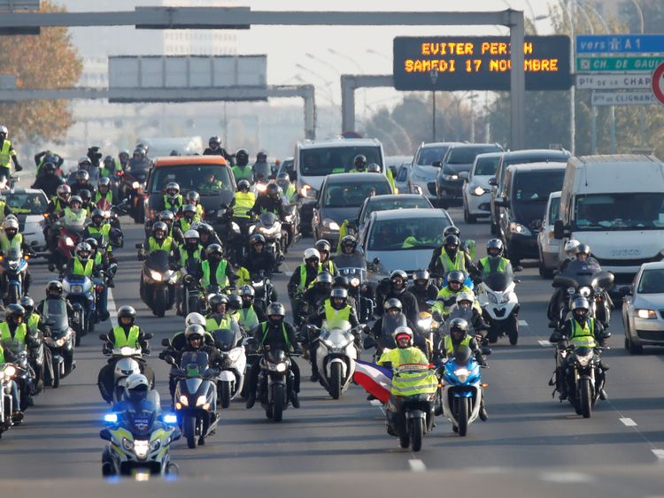 Image result for images of fuel protest in France