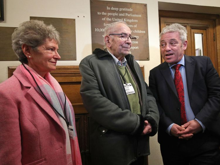 Mr Willer and Jo Roundell-Greene with John Bercow