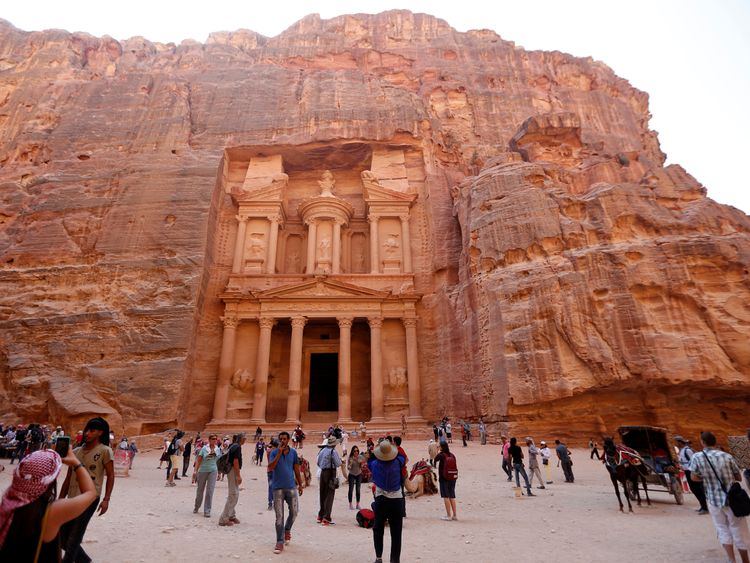 The ancient city of Petra is popular with tourists