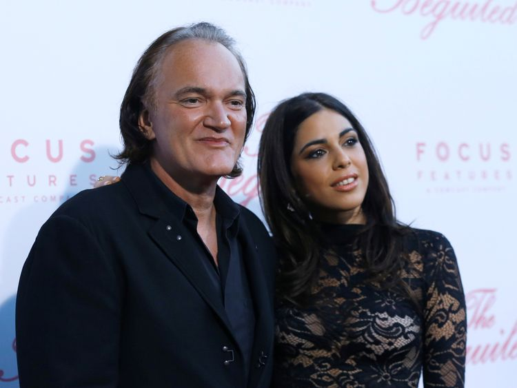 Quentin Tarantino and Daniella Pick at the 'Reservoir Dogs' 25th Anniversary Screening in 2017