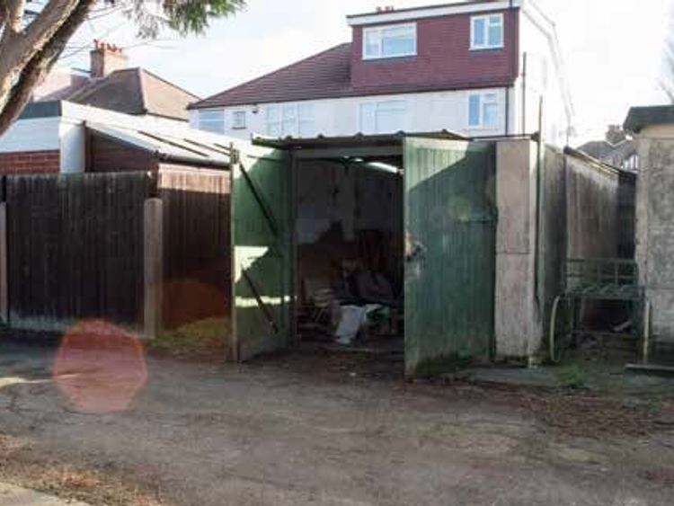 The mower shed where Lea Adri-Soejoko was found