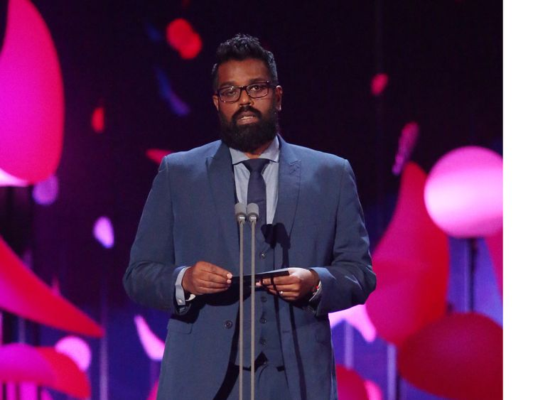 Romesh Ranganathan at the National Television Awards in 2018