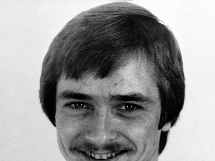 Russell Bishop pictured in about 1988 after he was acquitted of the murders of Karen Hadaway and Nicola Fellows