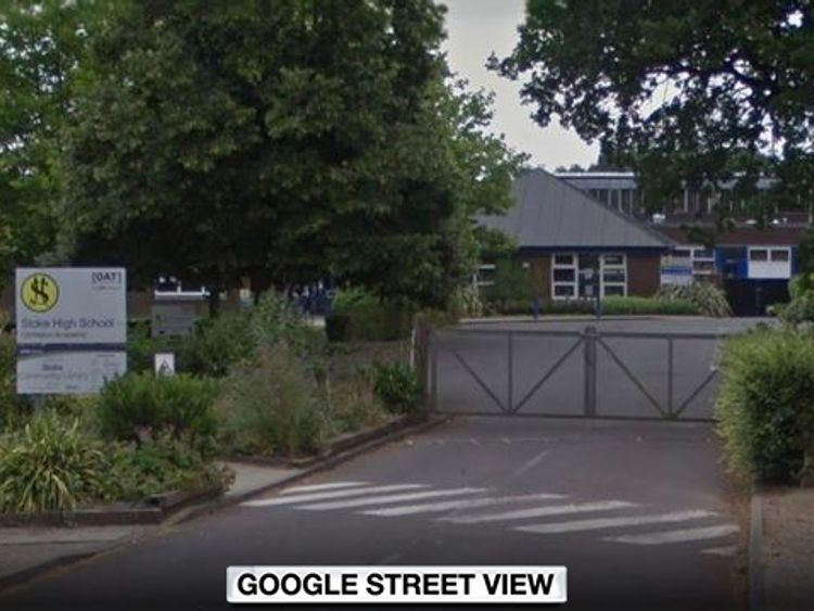 The pupil is said to have joined Stoke High School at the beginning of last term