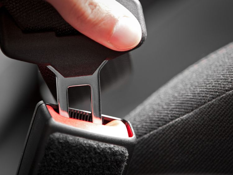 The fault means one of the rear seat belts can become unbuckled. File pic