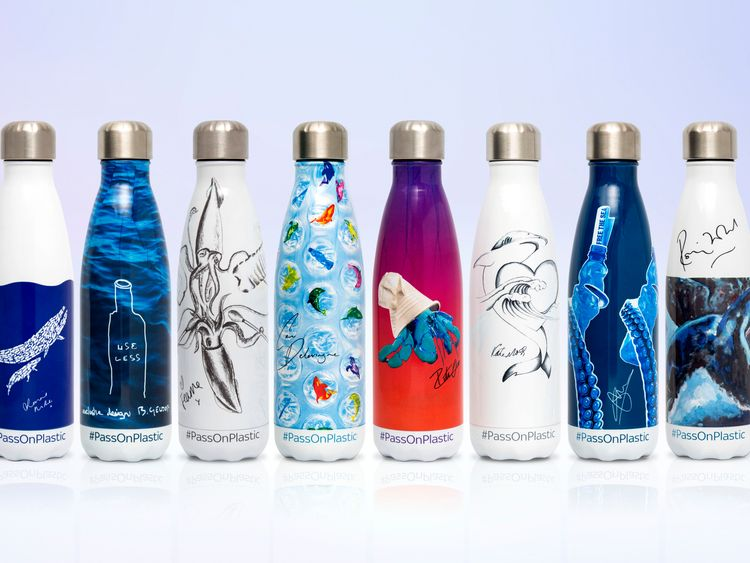 These reusable bottles are part of the limited edition edition of items from the Ocean Sky Rescue