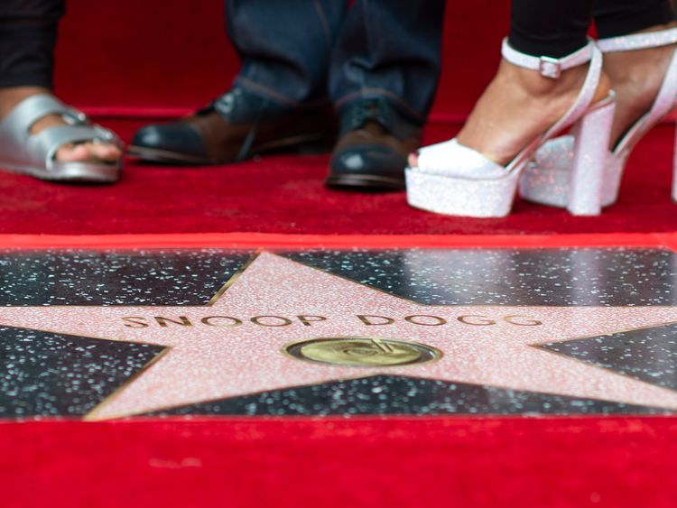 Snoop Dogg is honoured with a star on the Hollywood Walk Of Fame