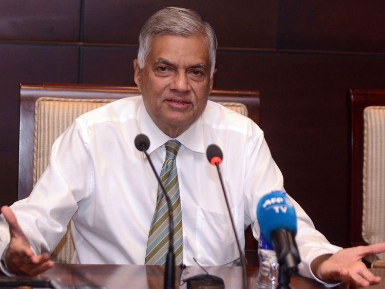 Sri Lanka's ousted prime minister Ranil Wickremesinghe