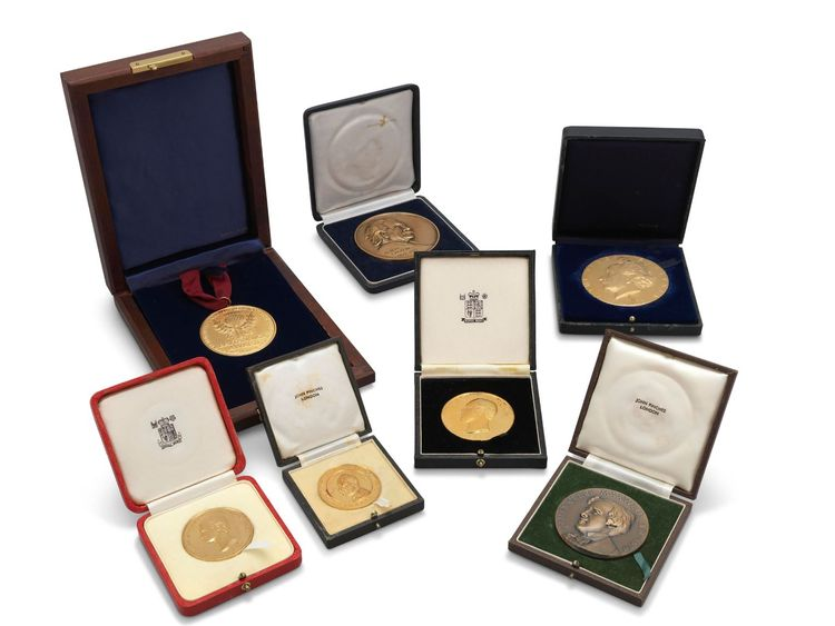 Some of the professor's medals and awards were sold. Pic Christie's