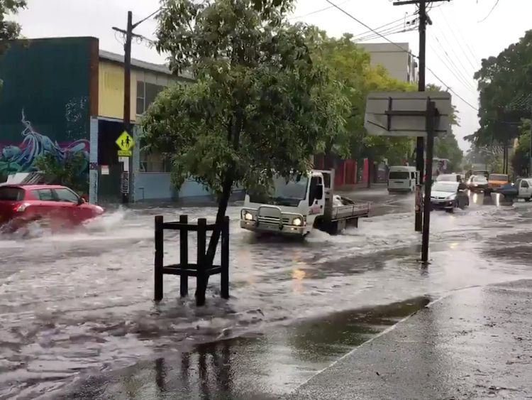 Sydney rain and flooding disrupt morning rush hour