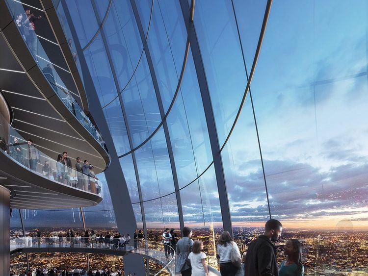 Sky bridges will ensure visitors get a unique view of London