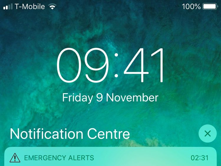 An emergency alert was sent out telling people to evacuate