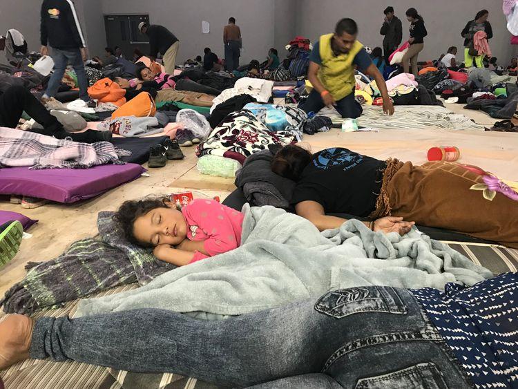migrant camp in tiujana - Sky News pics