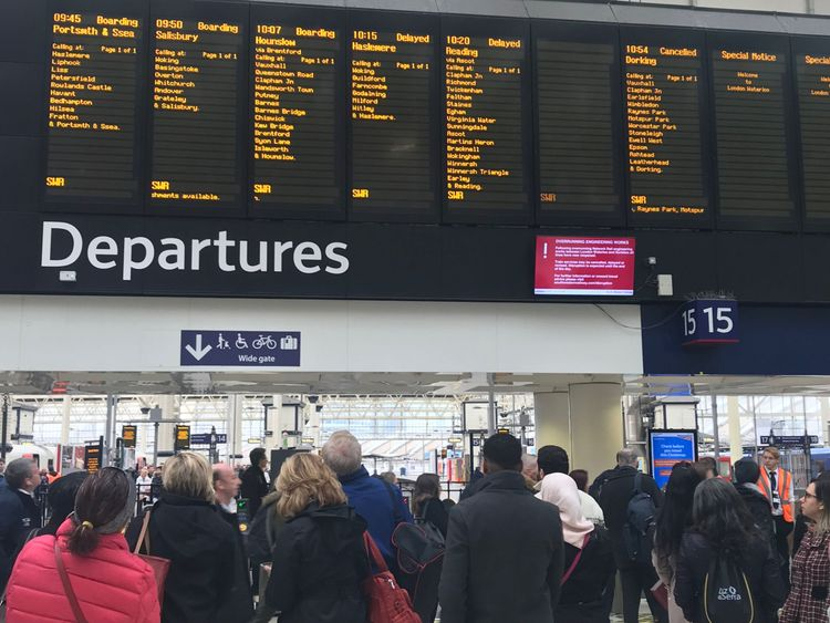 Mr Grayling's department said it 'shared the frustrations of passengers'