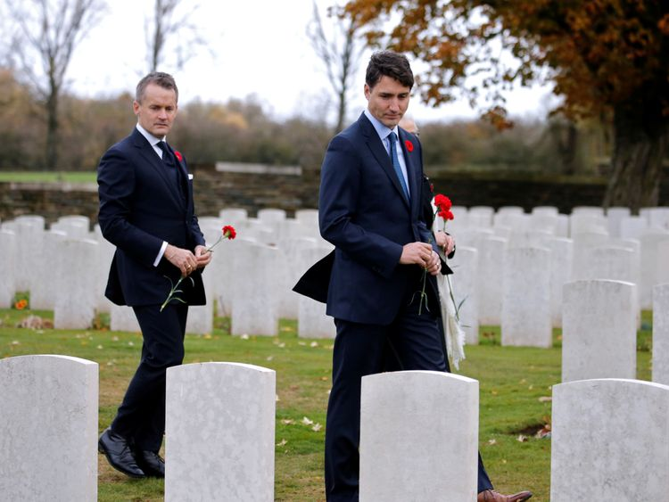 Justin Trudeau has been at the Canadian graves in France