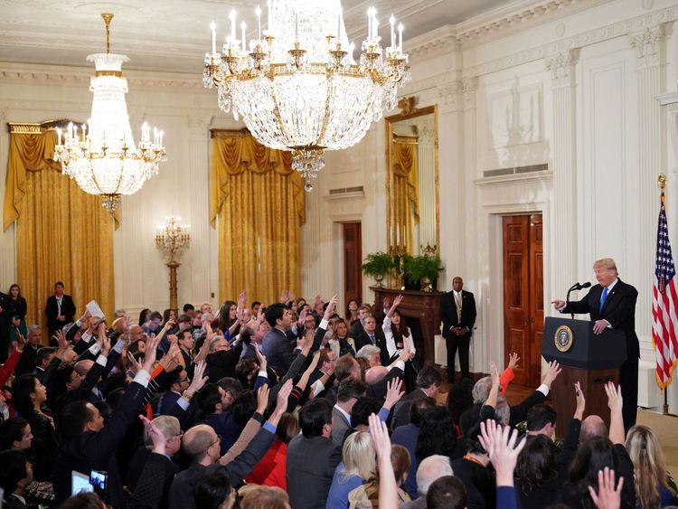 The president held a press conference following the midterm elections